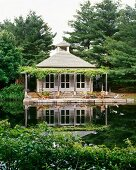 Country house by pond in Upstate New Yorks Hudson Valley