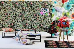 Sensational explosion of colour with floral home fabrics
