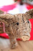 Animal figurine made of straw