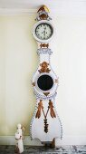 Painted and carved long-case clock