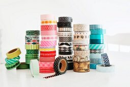 Rolls of washi tape of different patterns