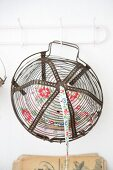 Ribbon stored in vintage wire basket