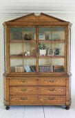 Antique dresser with floral marquetry