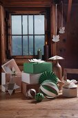 Hand-made paper Christmas decorations
