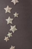 Decorative card stars on grey background