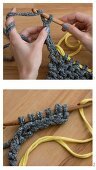 Knooking: knitting with a crochet needle