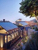 Luxurious architect-designed house at twilight