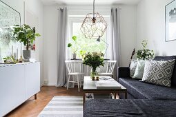 Modern living room in Scandinavian style