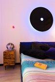 Surrealist designer pieces in bedroom