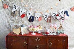 Partybuffet zum Valentinstag
