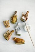 Revamping nativity figurines with white paint