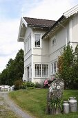 Traditional, Norwegian country-house villa with terrace