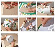 Instructions for making a fabric lampshade