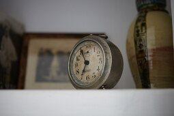Vintage alarm clock on surface