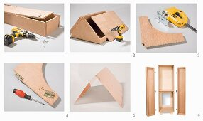 Instructions for making garden cupboard from plywood