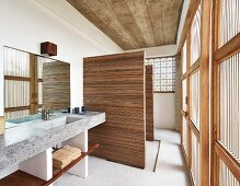 Bathroom in contemporary house