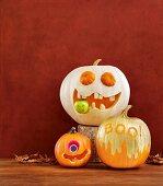 Funny Halloween pumpkin monsters