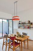 Retro style dining room