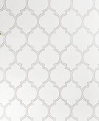 Wallpaper with a tile pattern in shades of grey