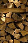 Brennholz-Stapel