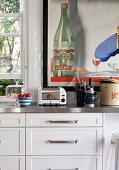 White kitchen unit with retro flair