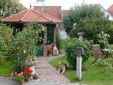 Garden house in the artist garden