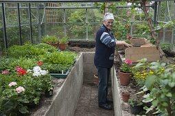 Art garden, greenhouse