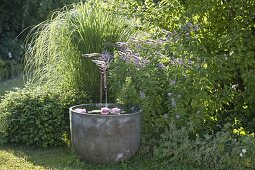Garden corner with water feature