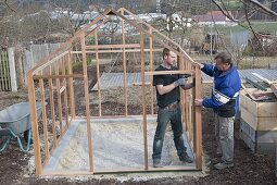 Build and set up the greenhouse