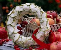 Wreath of apple slices