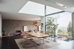 Modern interior on multiple levels