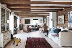 Open-plan interior in Scandinavian style