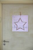 Star decoration on interior door