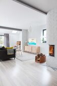 Bright, Scandinavian-style living room