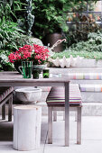 Flaming Käthchen on garden table