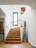 Bright staircase with window
