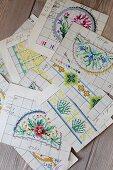 Various vintage beading patterns
