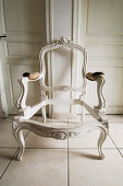 Bare frame of old Baroque chair