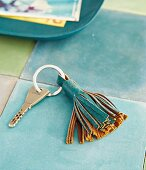 A DIY faux leather tassel for a keyring