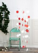 Hand-made mobile paper Christmas stars