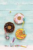 Small, handmade, doughnut pinboards