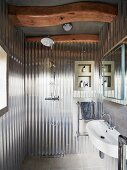 Bathroom in converted silo