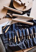 Denim pocket for carpentry tools