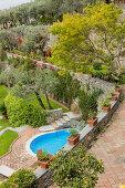 Mediterraner Garten mit Pool