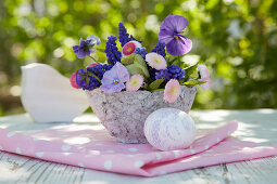 Easter bouquet of spring flowers