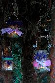 DIY-Windlichter mit duftenden Lavendelblüten