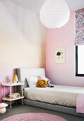 Girls room in pink and peach colors