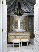 Elegant changing room in French baroque style
