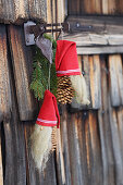 Handmade pine-cone gnomes