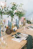Festively set Scandinavian-style table